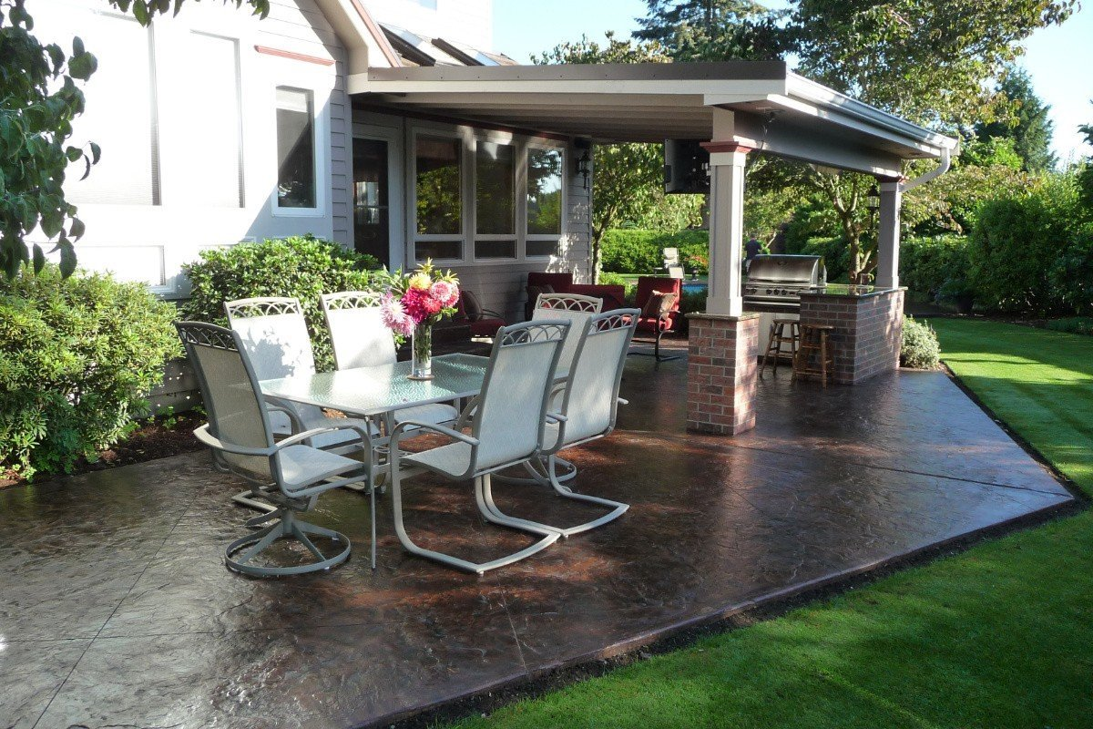 Puyallup Outdoor Patio - After Home Builder Remodel Puyallup WA