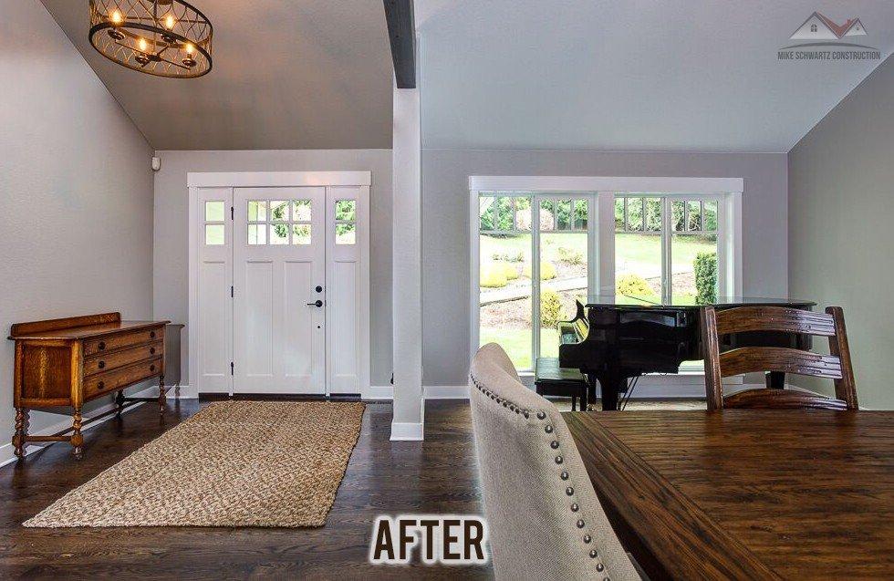 05 entry After Custom Home Builder Remodel Tacoma