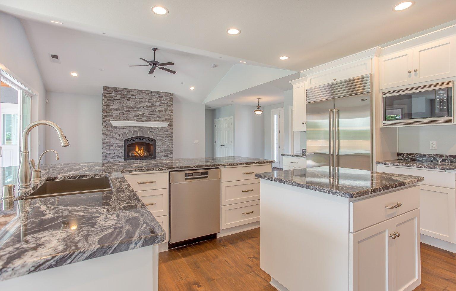 09 Kitchen Fireplace Wright